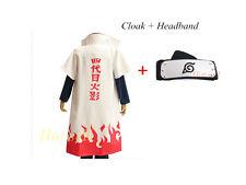 Naruto 4th yondaime namikaze minato Hokage Halloween Cosplay Costume Cloak Coat