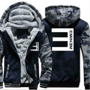New Eminem warm Thicken Hoodie Jacket Sweater fleece coat clothing