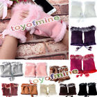 Women's Fingerless Gloves Texting Gloves Sheepskin Real Rabbit Fur NEW