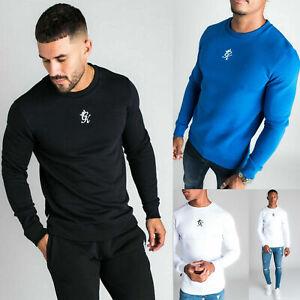 Gym King Mens Fleece Crew High Build Fashion Designer Sweatshirt Sweater Jumper