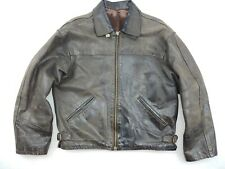 Vintage Vera Pelle Leather Bomber Jacket Men's Size M Excellent Made in Italy