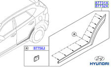 Genuine Hyundai Tucson Door Side Moulding (Rear), LH - 87731D7000