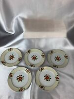 "Vintage Floral Hand Painted Meito China Made in Japan Plate 6"" lot of 5"
