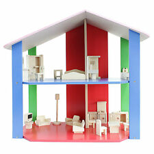 Toys Wooden Dolls' Miniatures House Wooden Toy Fully Furnished