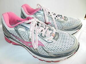 WOMENS Saucony size 6.5 Sneakers RUNNING SHOES ride 5 white & pink