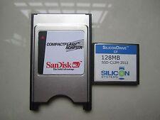 SiliconDrive  128MB Compact Flash +ATA PC card PCMCIA Adapter JANOME Machines