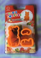 "Kokubo Veggie Shaper ""Teddy Bear"" Cute 3D Garnishes Bento Sushi Clay Crafts NIP"