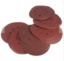 80pcs 5 inch 400,800,1000,2000 Grit 8 Holes Sand Discs Sanding Paper Discs