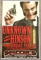 UNKNOWN HINSON 2019 Gig POSTER Tampa Florida Concert Early Cuyler Adult Swim