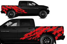 Vinyl Decal SHRED Wrap Kit for Dodge Ram 1500/2500 2009-2014 SHORTBOX Dark Red