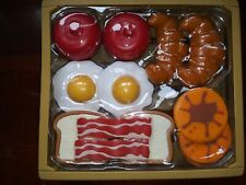 12 Pieces Pretend Play Fake  Breakfast Foods Toy
