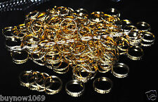 144 pcs GOLD RINGS BANDS WEDDING FAVORS TABLE DECORATIONS RECUERDOS BODA ANILLOS