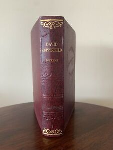 """CHARLES DICKENS - c1860-1872 Antique Leather Hardback """"DAVID COPPERFIELD"""" - VGC"""
