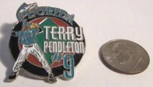 Florida Terry Pendleton 9 Lapel PIn 1995 Marlins