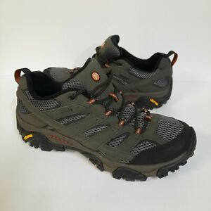 NEW MERRELL Moab 2 GORE-TEX Mens 10.5 Grey LEATHER WATERPROOF Hiking Shoes