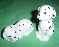 OTAGIRI JAPAN DALMATIANS DOGS BLACK AND WHITE SALT & PEPPER SET CERAMIC EUC