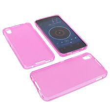 Funda para Alcatel One Touch Idol 4 protectora de móvil TPU goma Carcasa Rosa