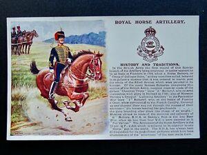 History & Tradition THE ROYAL HORSE ARTILLERY 1909 Postcard Gale & Polden 105a