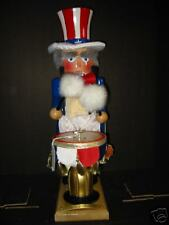 Steinbach 121 Uncle Sam Kettle Drum signed by Karla