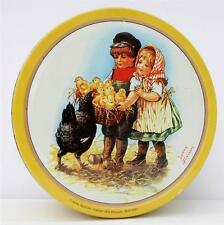 Vintage Style Biscuits Tin Jenny Nystrom Children Chicks