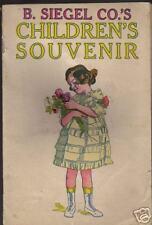 1915 B. SIEGEL Detroit MI Dept Store GIVEAWAY Kids Book