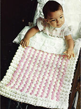 BABY PRAM COT RUG COVER BLANKET FAST EASY KNIT PATTERN BY EMAIL (562 )