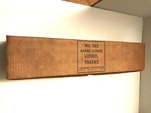 LIONEL O GAUGE - BARREL LOADER #362 - NEW IN ORIGINAL BOX - RARE ESTATE FIND