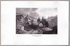 Maria zum Schnee Kapelle Rigi-Klösterli Schwyz Rigi Original Stahlstich 1850