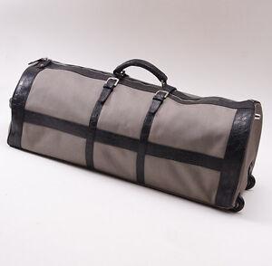 NWT $19,500 KITON Genuine Crocodile Large Weekend Carryall Roller Duffle Bag