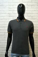 Polo Maglia Uomo FRED PERRY Taglia M Manica Corta Shirt Men Chemise Homme Grigia