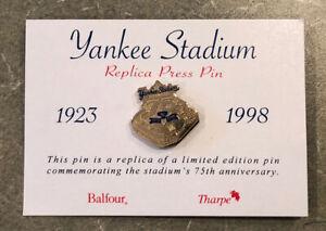 New York Yankee Stadium Replica Press Pin Limited Edition 75th anniversary 1998