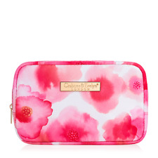 Crabtree & Evelyn Pink Watercolor Cosmetic Travel Bag NEW + FREE SHIPPING 759267