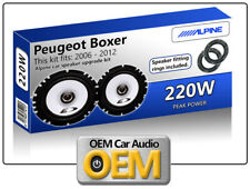 Peugeot Boxer Front Door speakers Alpine car speakers + Adapter Pods + Tweeter