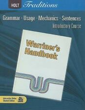 Warriner's Handbook, Introductory Course: Grammar, Useage, Mechanics, Sentences