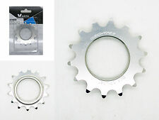 Piñon Fijo Bicicleta Fixie Ruder Berna 14T Aluminio Plata Mecanizado CNC 3606