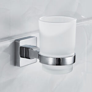 Mordern Tumbler Toothbrush Holder Bathroom Cup Space Save Shower organizer Glass