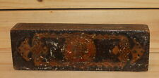 Antique hand made pyrography wood box