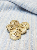 Five  Authentic Chanel Buttons made in Metal cc 5 pcs  22 mm 0,8 inch