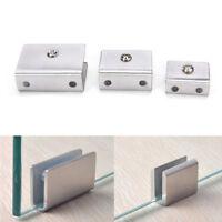 4pcs 6-12mm Stainless Steel Square Clamp Holder Clip For Glass Shelf Handrail