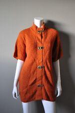 MICHAEL Michael KORS Burnt Orange Crochet Long Tunic Sweater sz S NWT $130
