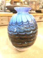 Vintage Mid Century Modern Italian Art Glass Hand Blown Vase