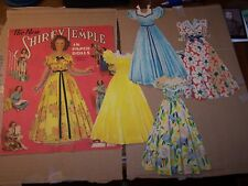 Shirley Temple Paper doll with 4 dresses 1942 Saalfield Publishing Co.