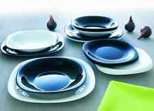 SERVIZIO x 6 PIATTI TAVOLA ARCOPAL Pz 18 BLACK & WHITE H&H bianco e nero cucina