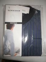 Schiesser Herren Schlafanzug Pyjama kurz Shorty blau / Streifen Gr.48/S NEU+OVP