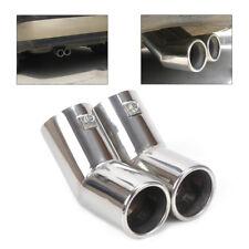 Stainless Steel Exhaust Tail Rear Muffler Tip Pipe For VW MK4 Golf Jetta Bora