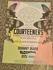 More details for courteeners 2021 concert posters lot of two. mint condition.