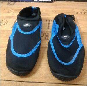 Swim Shoes Size 8.  Beach,Sand Deck Aqua Swimming Shoes.blue & Black.new