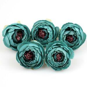 5-100 Pcs Silk Rose Artificial Flowers head 5cm Bulk Fake Camellia Wedding Decor