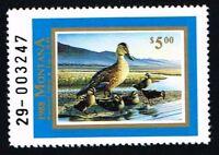CKSTAMPS : 1988 US Montana State Ducks Hunting Stamps $5.00, Mint NH OG VF