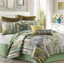 Reversible Cotton Patchwork Coverlet Bedspread 3pc Set Queen 230X230cm MP009